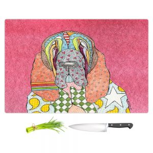 Artistic Kitchen Bar Cutting Boards | Marley Ungaro - Bloodhound Pink | Abstract pattern whimsical