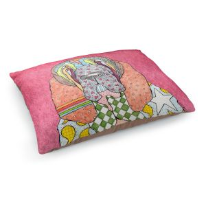 Decorative Dog Pet Beds   Marley Ungaro - Bloodhound Pink   Abstract pattern whimsical