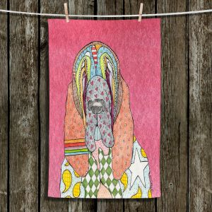 Unique Hanging Tea Towels | Marley Ungaro - Bloodhound Pink | Abstract pattern whimsical
