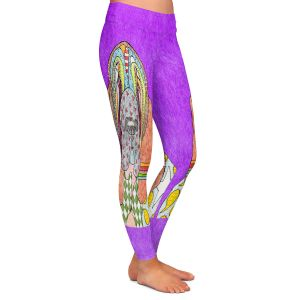 Casual Comfortable Leggings | Marley Ungaro - Bloodhound Purple | Abstract pattern whimsical