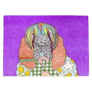 Countertop Place Mats | Marley Ungaro - Bloodhound Purple | Abstract pattern whimsical