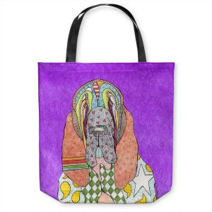Unique Shoulder Bag Tote Bags   Marley Ungaro - Bloodhound Purple   Abstract pattern whimsical