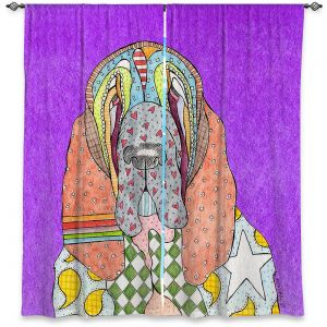 Decorative Window Treatments   Marley Ungaro - Bloodhound Purple   Abstract pattern whimsical