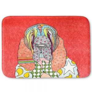 Decorative Bathroom Mats | Marley Ungaro - Bloodhound Watermelon | Abstract pattern whimsical