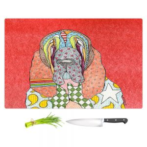 Artistic Kitchen Bar Cutting Boards | Marley Ungaro - Bloodhound Watermelon | Abstract pattern whimsical