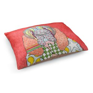 Decorative Dog Pet Beds | Marley Ungaro - Bloodhound Watermelon | Abstract pattern whimsical