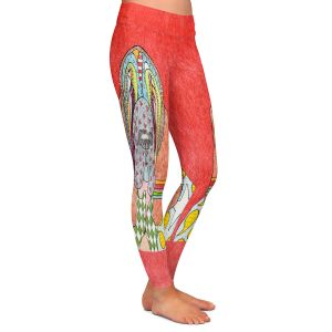 Casual Comfortable Leggings | Marley Ungaro - Bloodhound Watermelon | Abstract pattern whimsical