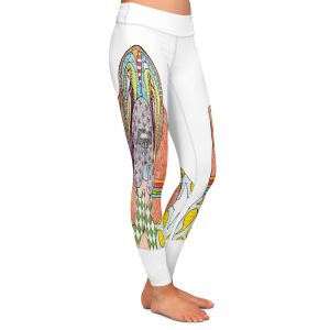 Casual Comfortable Leggings | Marley Ungaro - Bloodhound White | Abstract pattern whimsical