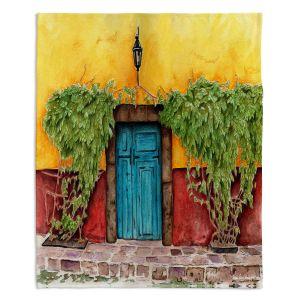 Decorative Fleece Throw Blankets | Marley Ungaro - Blue Door