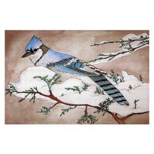 Decorative Floor Covering Mats | Marley Ungaro - Bluejay | Still live animal bird winter nature tree branch