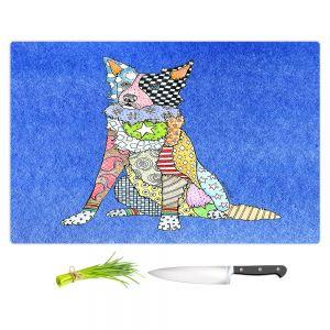 Artistic Kitchen Bar Cutting Boards | Marley Ungaro - Border Collie Blue