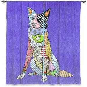 Decorative Window Treatments | Marley Ungaro - Border Collie Indigo
