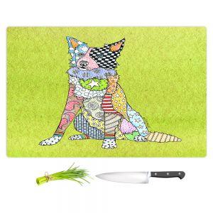 Artistic Kitchen Bar Cutting Boards | Marley Ungaro - Border Collie Lime