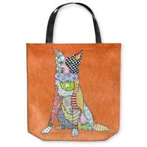 Unique Shoulder Bag Tote Bags |Marley Ungaro - Border Collie Orange