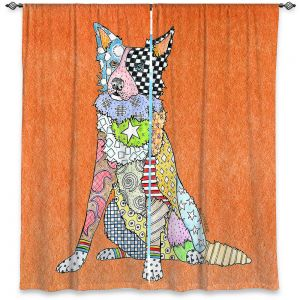 Decorative Window Treatments | Marley Ungaro - Border Collie Orange