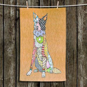 Unique Hanging Tea Towels | Marley Ungaro - Border Collie Tan | Dog Animal Pet Border Collie Colorful Funky