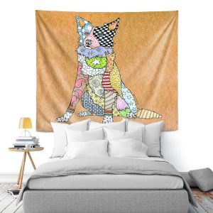 Artistic Wall Tapestry   Marley Ungaro - Border Collie Tan