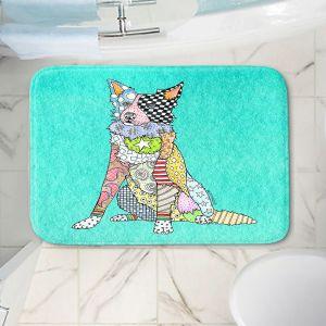 Decorative Bathroom Mats | Marley Ungaro - Border Collie Turquoise