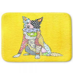 Decorative Bathroom Mats | Marley Ungaro - Border Collie Yellow