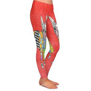 Casual Comfortable Leggings | Marley Ungaro - Boston Terrier Watermelon