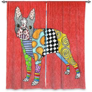 Decorative Window Treatments | Marley Ungaro - Boston Terrier Watermelon