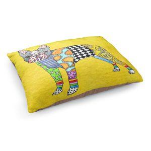 Decorative Dog Pet Beds | Marley Ungaro - Boston Terrier Yellow