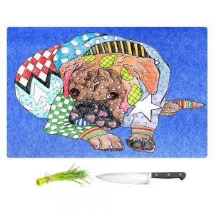 Artistic Kitchen Bar Cutting Boards | Marley Ungaro - Boxer Dog Blue