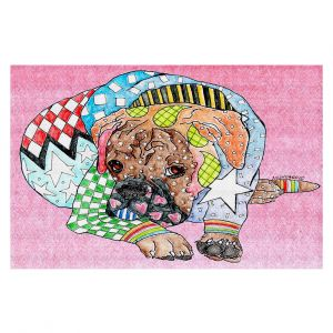 Decorative Area Rug 4 x 6 ft from DiaNoche Designs by Marley Ungaro - Boxer Dog Light Pink