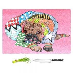 Artistic Kitchen Bar Cutting Boards | Marley Ungaro - Boxer Dog Light Pink