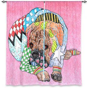 Decorative Window Treatments | Marley Ungaro Boxer Dog Light Pink