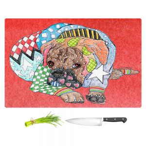 Artistic Kitchen Bar Cutting Boards | Marley Ungaro - Boxer Dog Watermelon