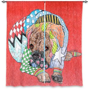 Decorative Window Treatments | Marley Ungaro Boxer Dog Watermelon