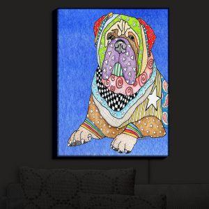 Nightlight Sconce Canvas Light | Marley Ungaro - Bull Mastiff Dog Blue