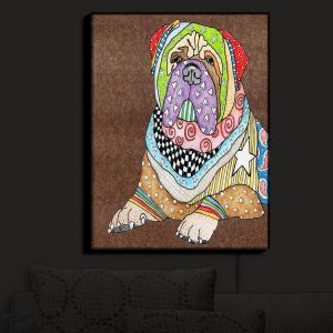 Nightlight Sconce Canvas Light | Marley Ungaro - Bull Mastiff Dog Light Brown