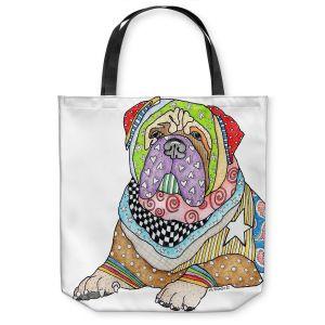 Unique Shoulder Bag Tote Bags | Marley Ungaro - Bull Mastiff Dog White