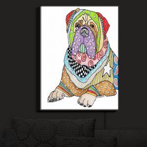 Nightlight Sconce Canvas Light | Marley Ungaro - Bull Mastiff Dog White