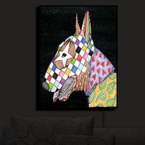 Nightlight Sconce Canvas Light | Marley Ungaro - Bull Terrier Dog Black