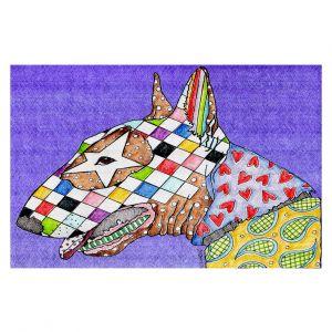 Decorative Floor Coverings | Marley Ungaro Bull Terrier Dog Indigo