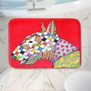 Decorative Bathroom Mats | Marley Ungaro - Bull Terrier Dog Red