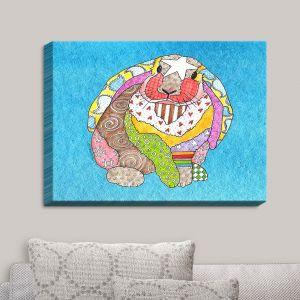 Decorative Canvas Wall Art | Marley Ungaro - Bunny Aqua | Rabbit Animals