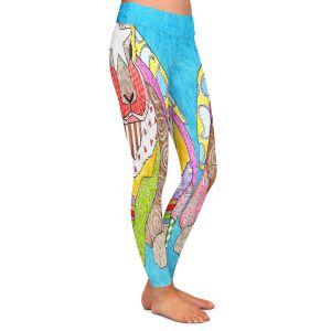 Casual Comfortable Leggings | Marley Ungaro - Bunny Aqua