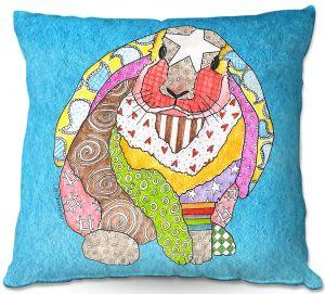 Decorative Outdoor Patio Pillow Cushion | Marley Ungaro - Bunny Aqua