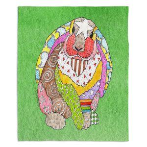 Artistic Sherpa Pile Blankets | Marley Ungaro - Bunny Green