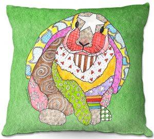 Throw Pillows Decorative Artistic | Marley Ungaro - Bunny Green