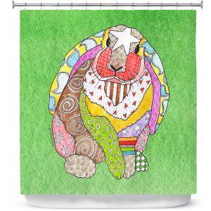 Premium Shower Curtains | Marley Ungaro - Bunny Green