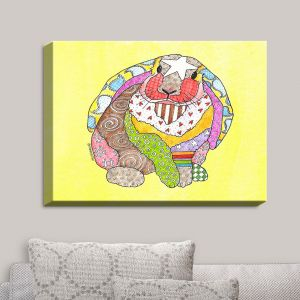 Decorative Canvas Wall Art | Marley Ungaro - Bunny Pastel Yellow | Rabbit Animals