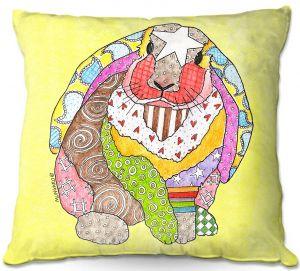 Decorative Outdoor Patio Pillow Cushion | Marley Ungaro - Bunny Pastel Yellow