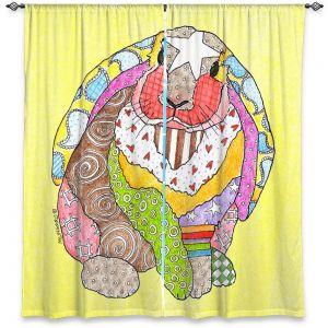 Decorative Window Treatments   Marley Ungaro - Bunny Pastel Yellow