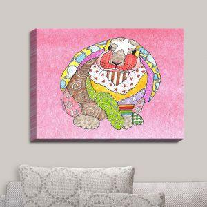 Decorative Canvas Wall Art | Marley Ungaro - Bunny Pink | Rabbit Animals