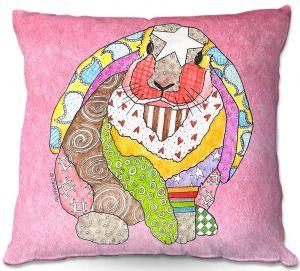 Decorative Outdoor Patio Pillow Cushion | Marley Ungaro - Bunny Pink